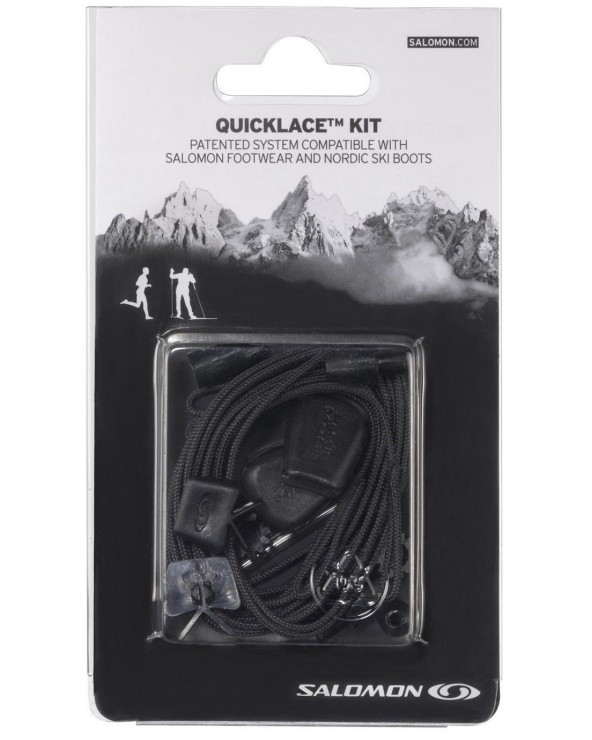 SALOMON QUICK LACES KIT NEGRO