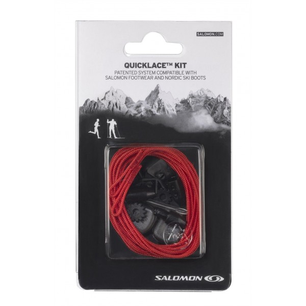 SALOMON QUICK LACES KIT ROJO