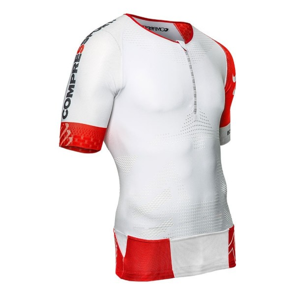 COMPRESSPORT CAMSIETA AERO TOP BLANCO