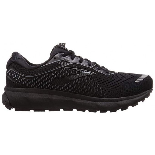 BROOKS GHOST 12 BLACK ANCHO ESPECIAL