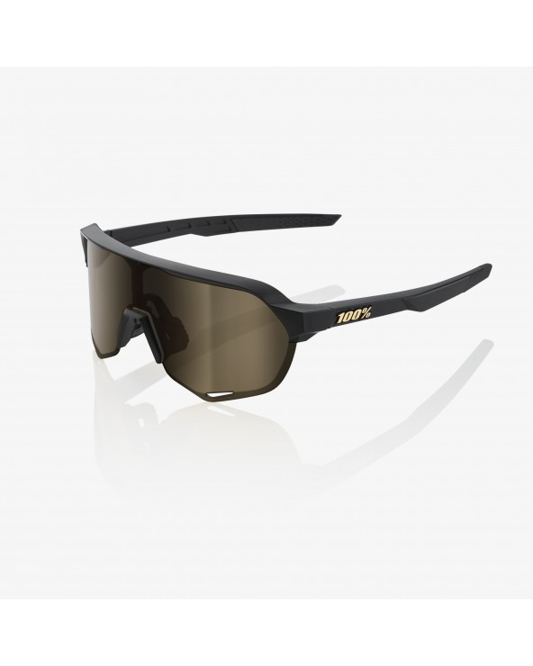 100% S2 MATTE BLACK - SOFT GOLD LENS