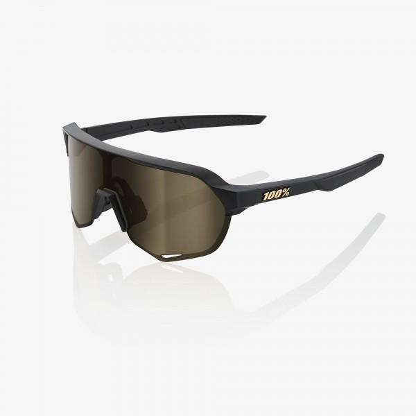 100% S2 MATTE BLACK - SOFT GOLD LENS