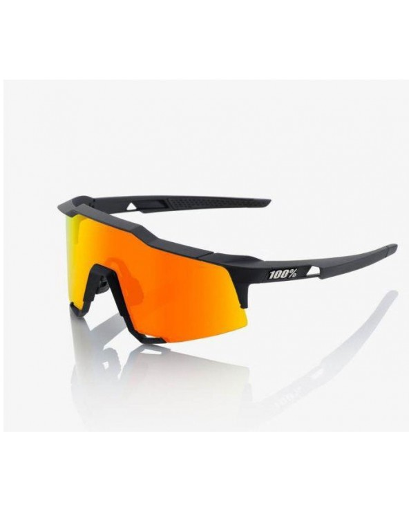100% SPEEDCRAFT - SOFT TACT BLACK -HIPER RED LENS