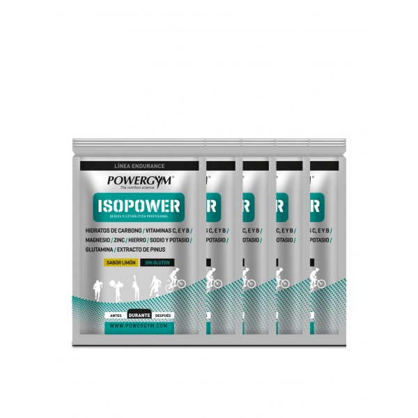 POWERGYM ISOPOWER PACK SOBRES LIMON