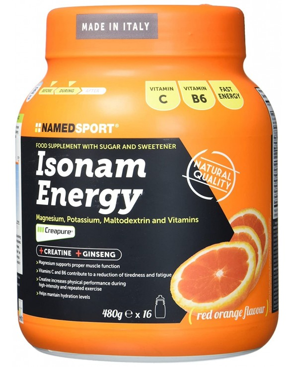 NAMEDSPORT ISONAM ENERGY NARANJA 480G