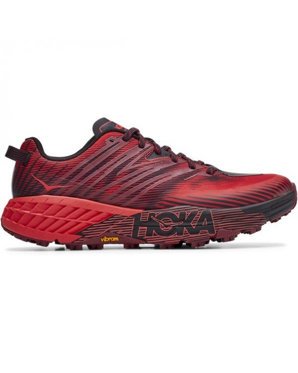 HOKA SPEEDGOAT 4 W CORDOVAN / RED
