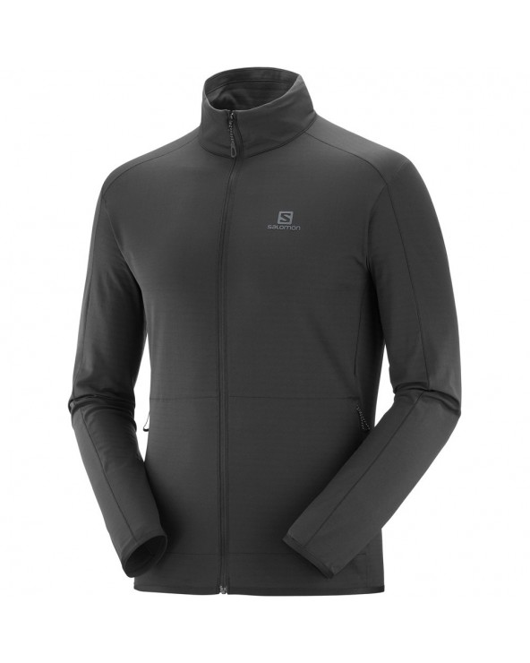 SALOMON OUTRACK FULL ZIP MID M BLACK